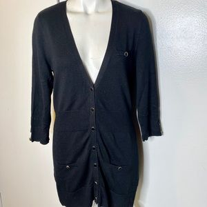 White House Black Market Black Cardigan Sweater S